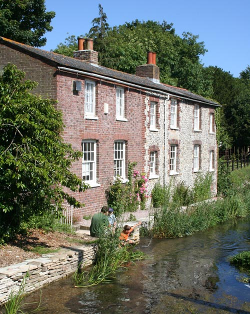 Workers cottages at Crabble Corn Mill