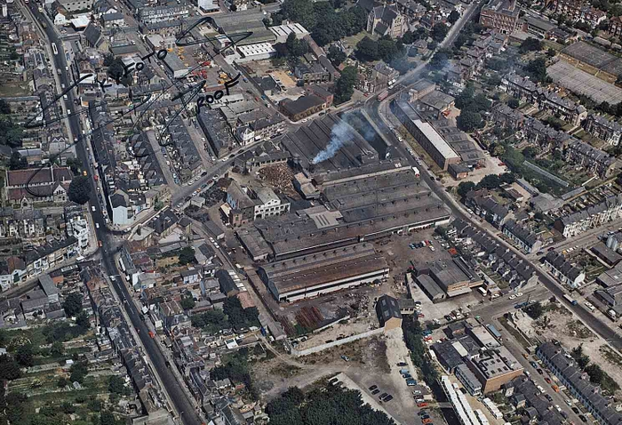 extent of Dover Engineering works - aerial photo